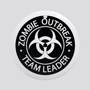 ZO Team Leader Black Ornament (Round)